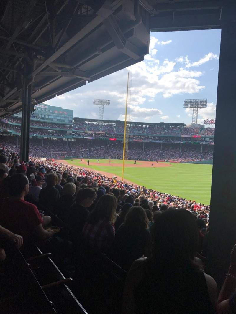 Seating view for Fenway Park Section Grandstand 5 Row 5 Seat 2