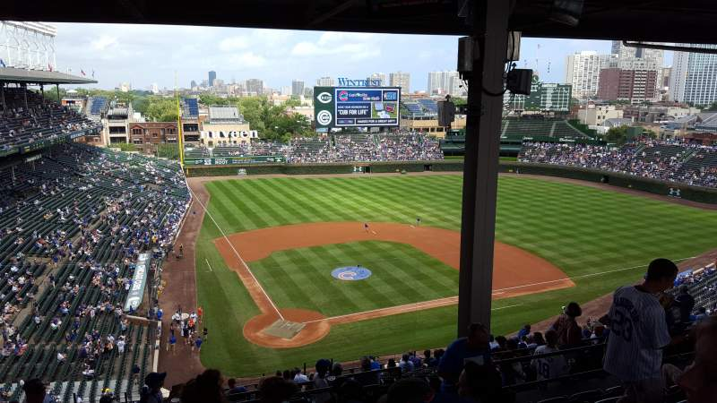 Seating view for Wrigley Field Section 420R Row 7 Seat 17