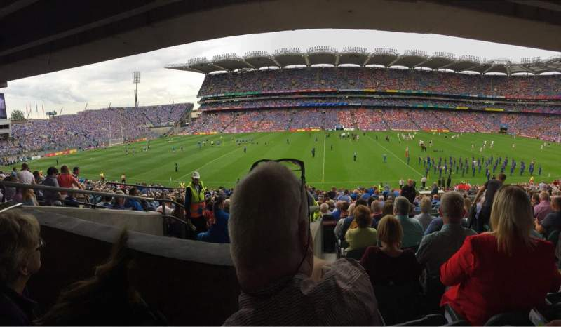 Seating view for Croke Park Section 432 Row SS Seat 18