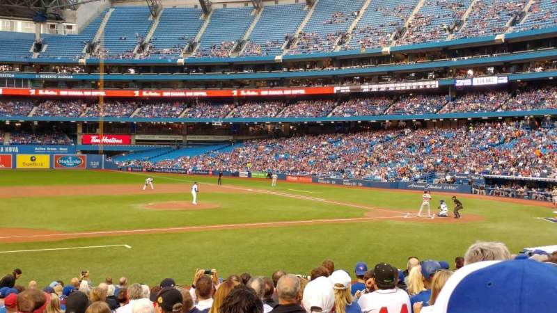 Seating view for Rogers Centre Section 127R Row 19 Seat 1