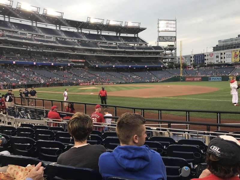 Seating view for Nationals Park Section 132 Row J Seat 6