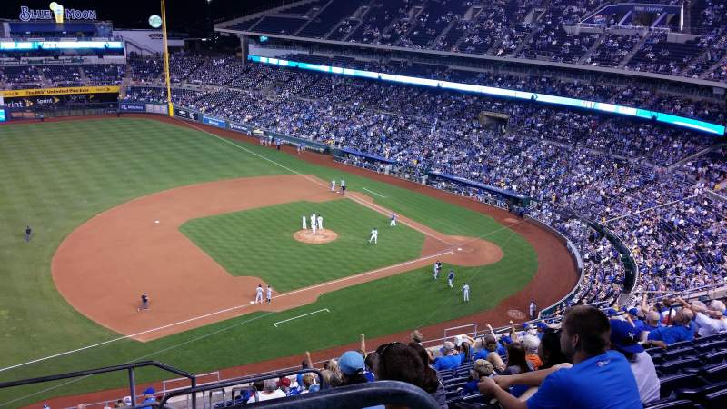 Seating view for Kauffman Stadium Section 409 Row BB Seat 2