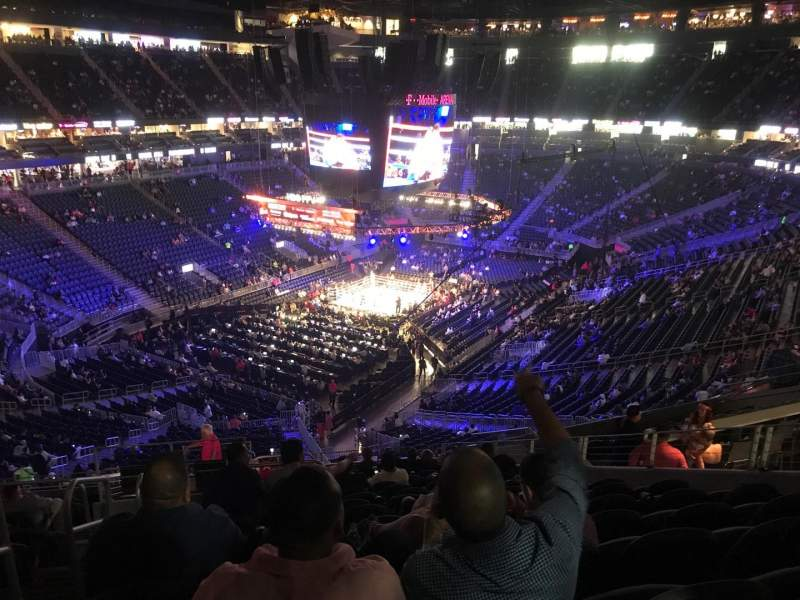 Seating view for T-Mobile Arena Section 105 Row P Seat 1