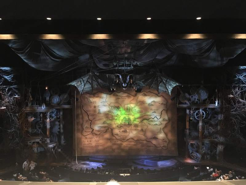 Seating view for Gershwin Theatre Section Front Mezzanine C Row C Seat 109