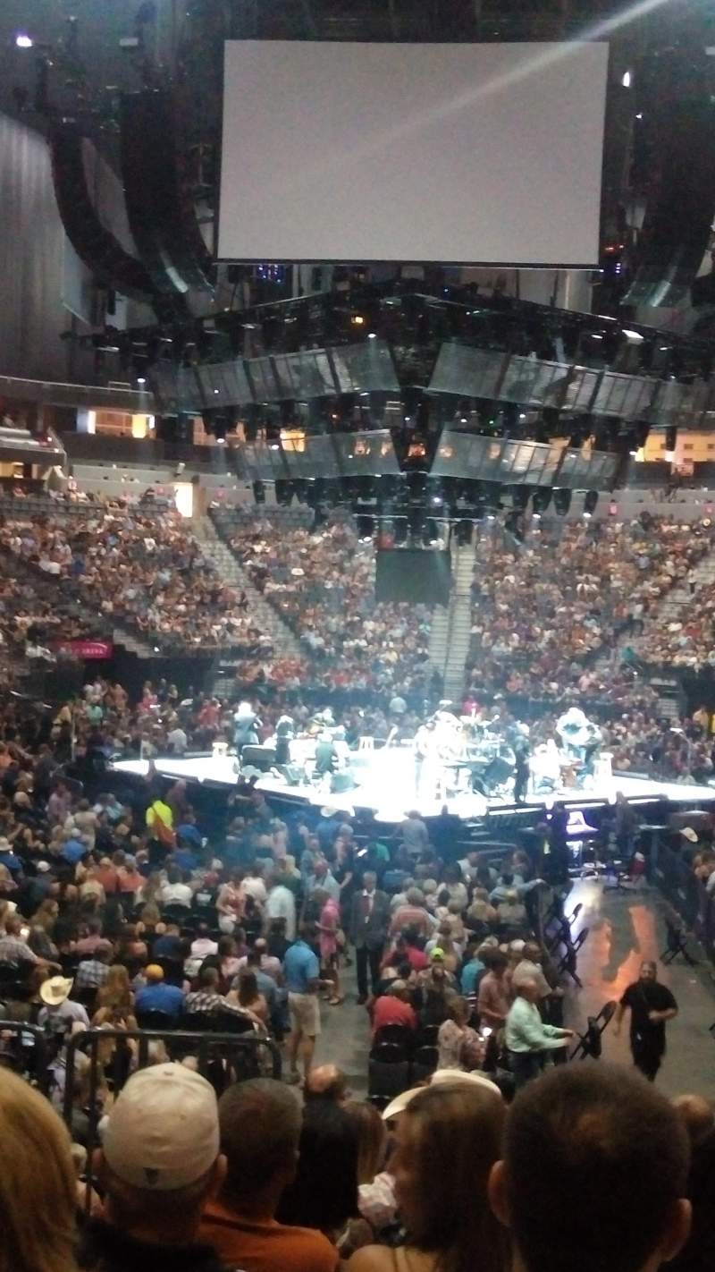 T-Mobile Arena, section: 1, row: H, seat: 2