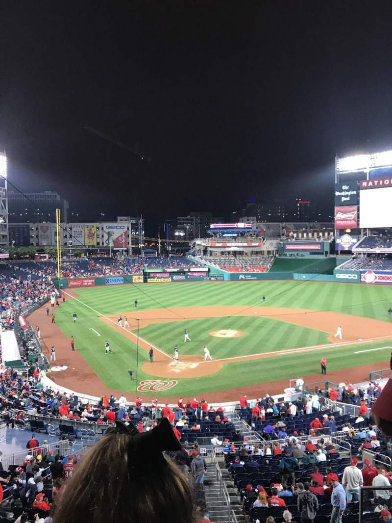 Seating view for Nationals Park Section 212 Row B Seat 3