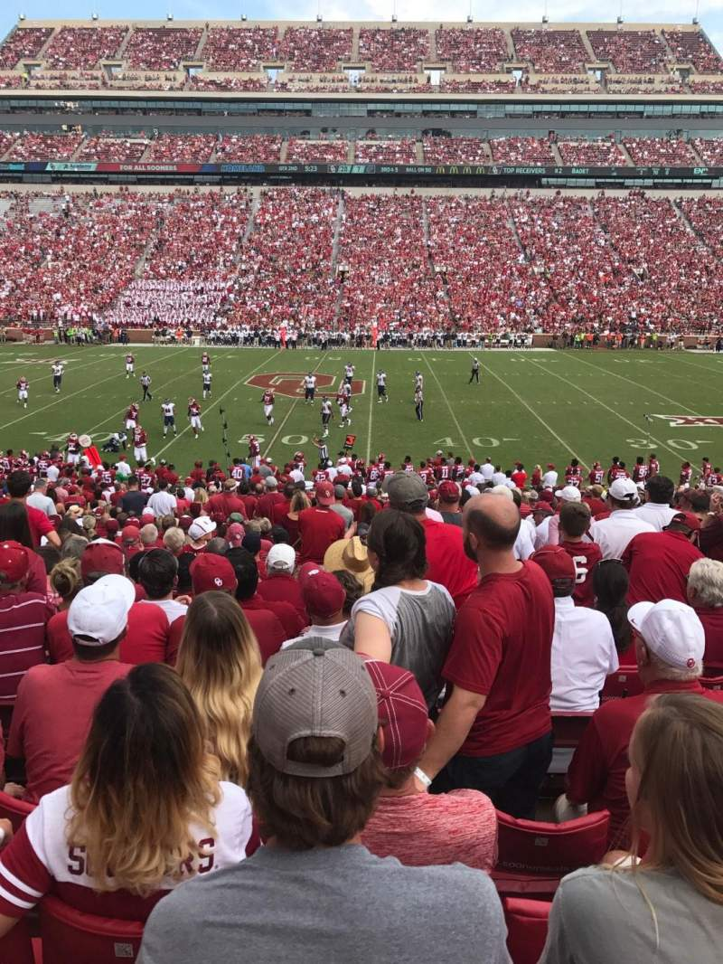 Seating view for Gaylord Memorial Stadium Section 5 Row 33 Seat 14
