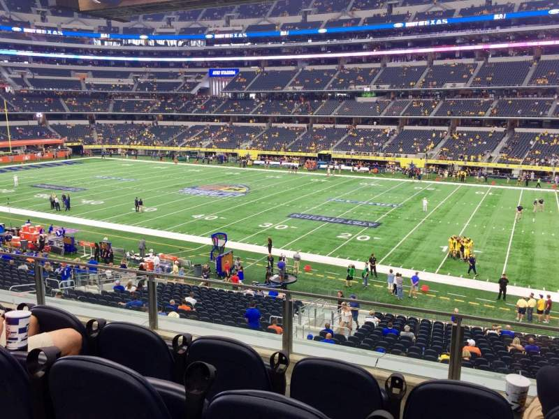 AT&T Stadium, section: C207, row: 4, seat: 3