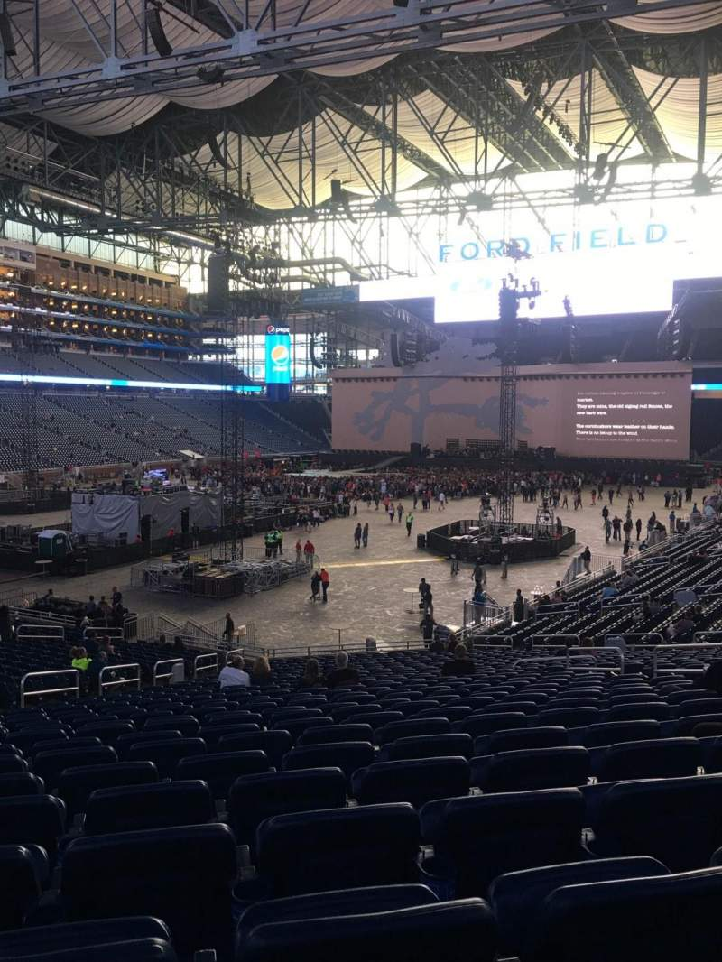 Seating view for Ford Field Section 120 Row 31 Seat 14