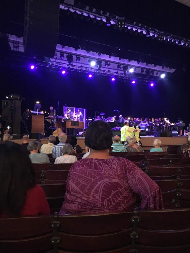 Seating view for The Pavilion at the Ravinia Festival Section Left Row L Seat 9