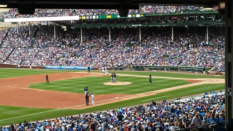 Seating view for Wrigley Field Section 206 Row 21 Seat 12
