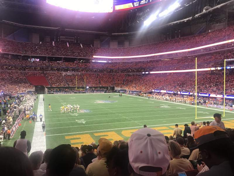 Seating view for Mercedes-Benz Stadium Section 103 Row 22