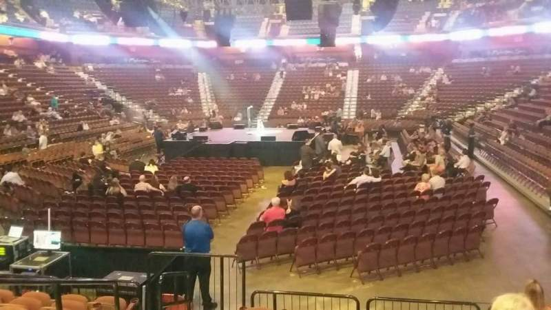 Seating view for Mohegan Sun Arena Section 28 Row K