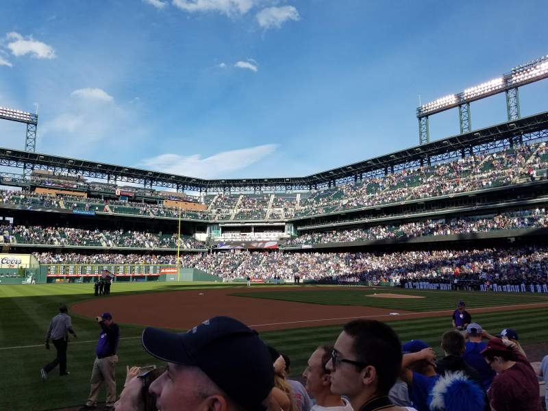 Seating view for Coors Field Section 143 Row 7 Seat 1
