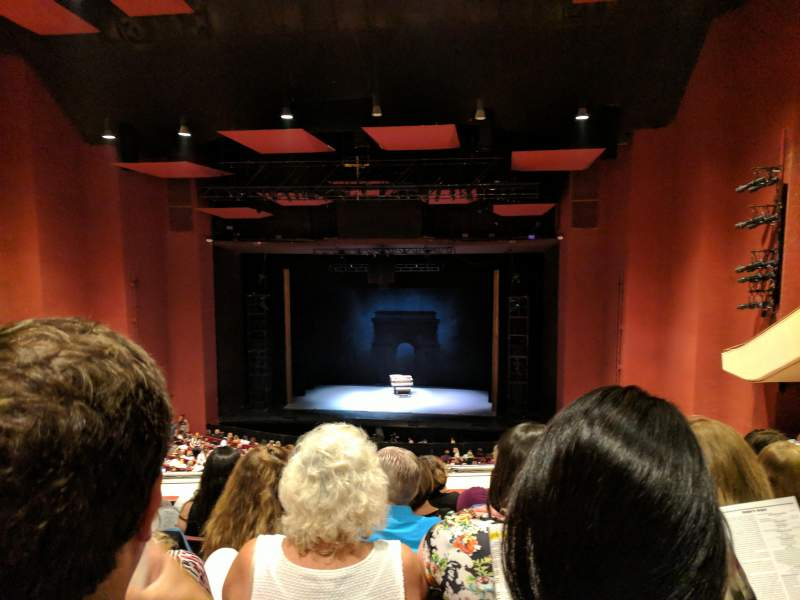 Seating view for San Diego Civic Theatre Section Mezzanine R Row U Seat 22