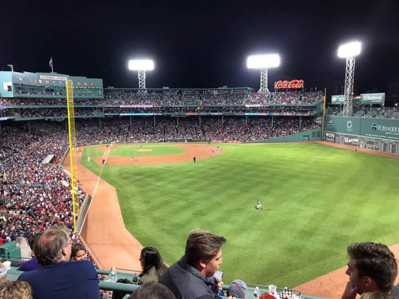 Seating view for Fenway Park Section BDBB Row 3 Seat 21