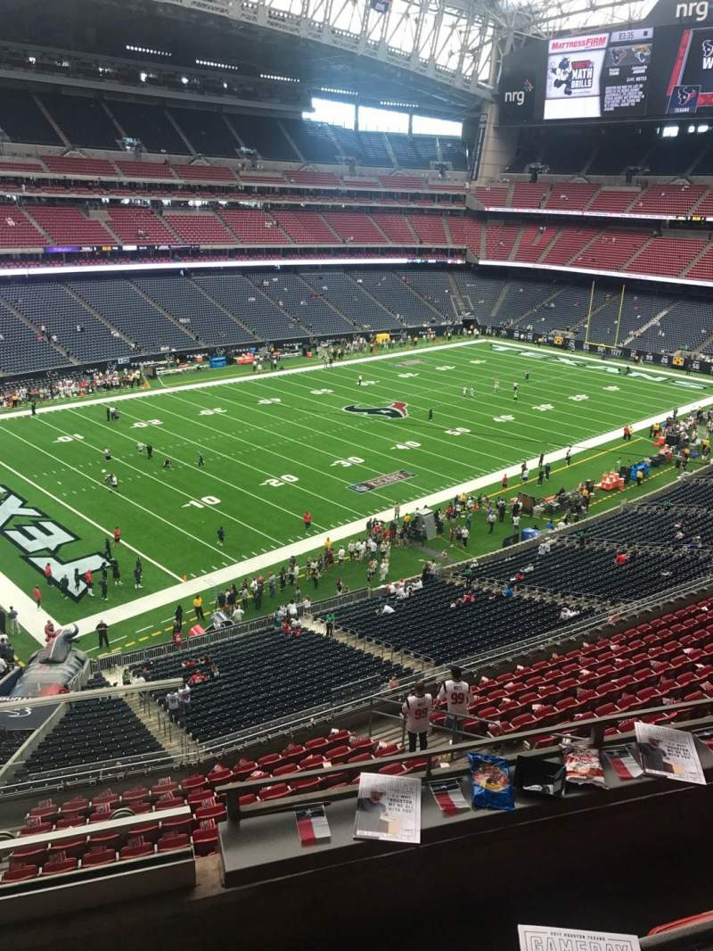 Seating view for NRG Stadium Section 438 Row 1 Seat 1