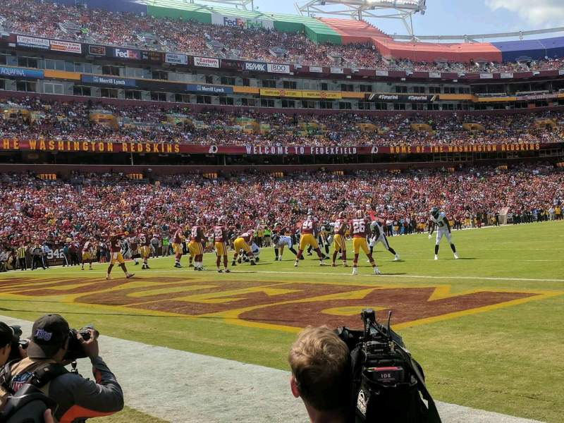 FedEx Field, section: 30, row: 1, seat: 11