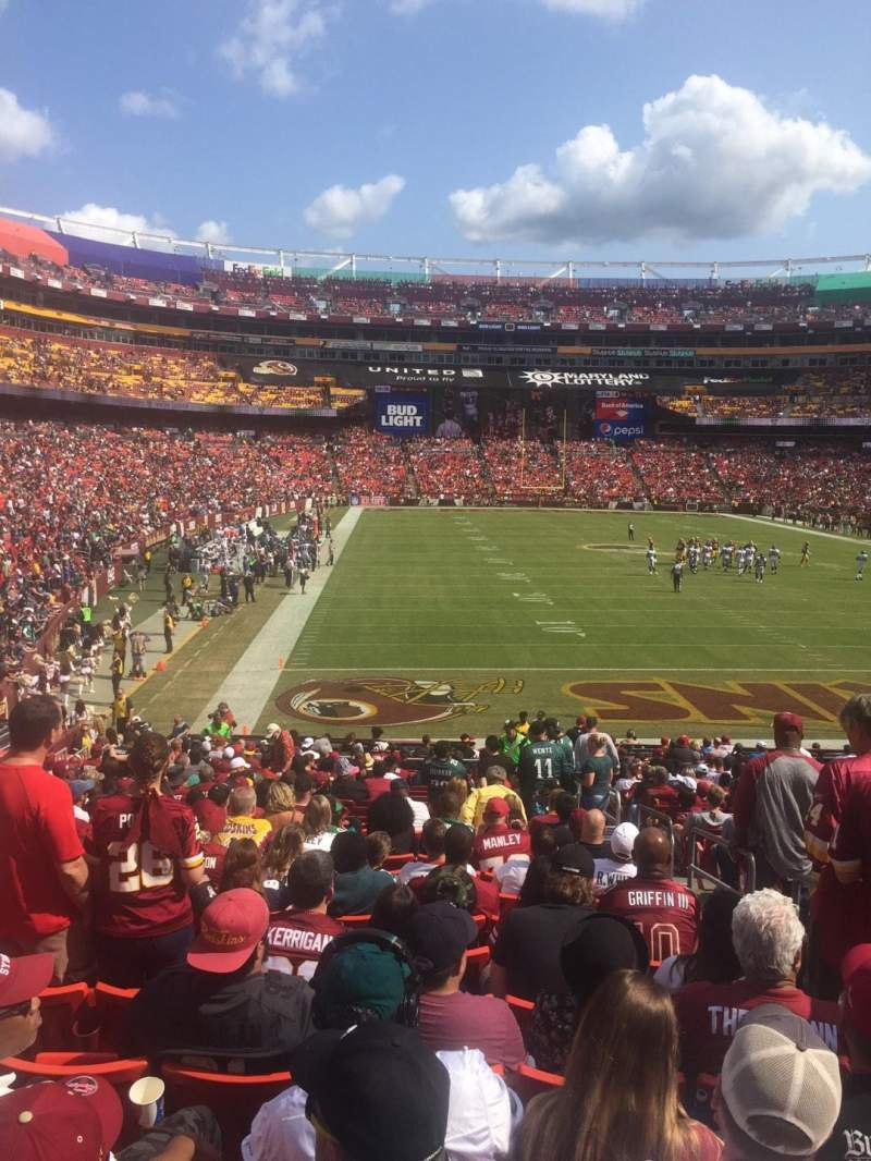 Seating view for FedEx Field Section 113 Row 26 Seat 3