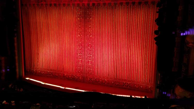 Seating view for New Amsterdam Theatre Section Mezzanine R Row CC Seat 10,12,14