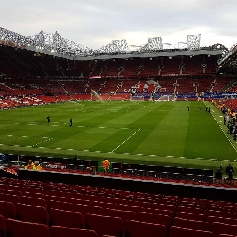 Seating view for Old Trafford Section W208 Row 12 Seat 125