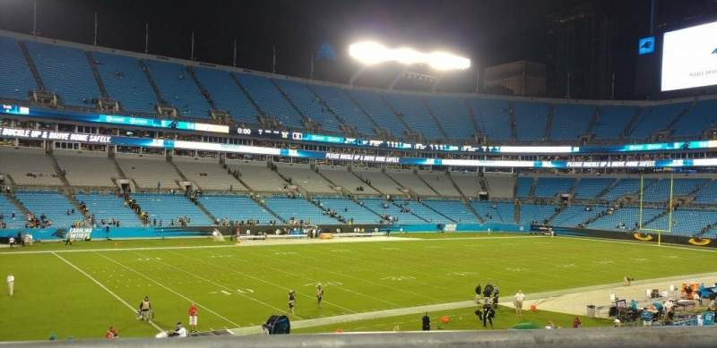 Seating view for Bank of America Stadium Section 349 Row 1 Seat 3