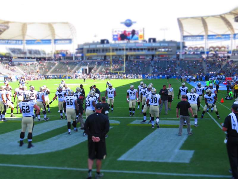 Seating view for Dignity Health Sports Park Section 120 Row B Seat 8