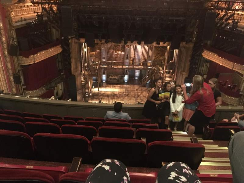 Seating view for CIBC Theatre Section Balcony LC Row F Seat 403