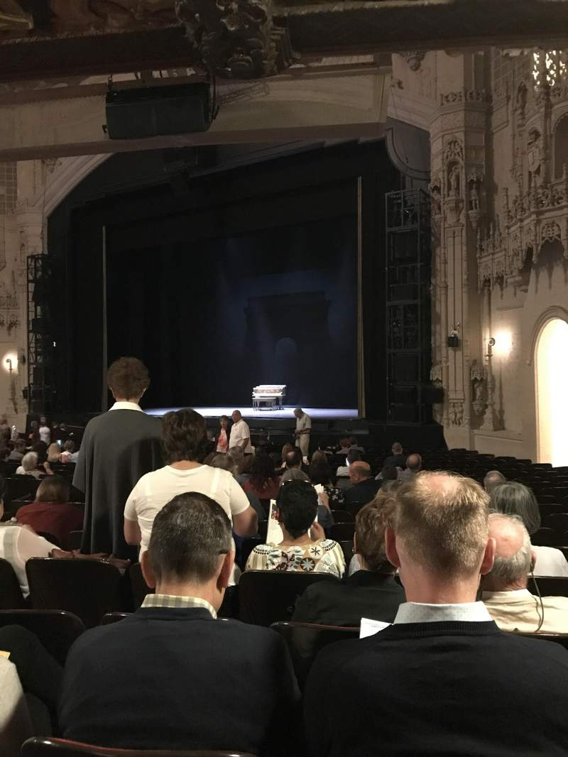 Orpheum Theatre (San Francisco), section: Orchestra R, row: Y, seat: 22