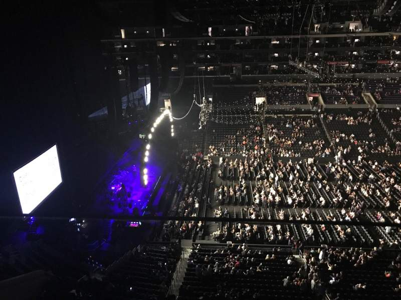 Staples Center, section: 319, row: 1, seat: 6