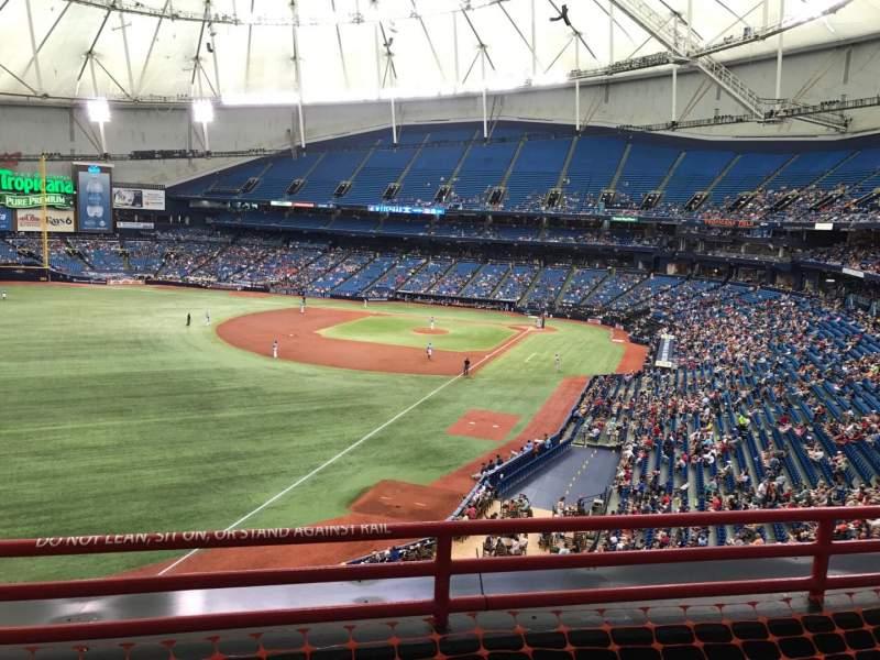 Tropicana Field, section: 341, row: C, seat: 16