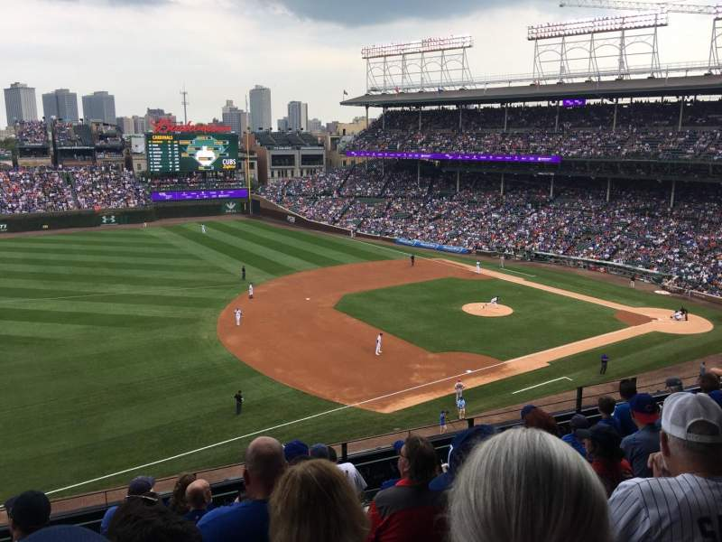 Seating view for Wrigley Field Section 307L Row 8 Seat 14