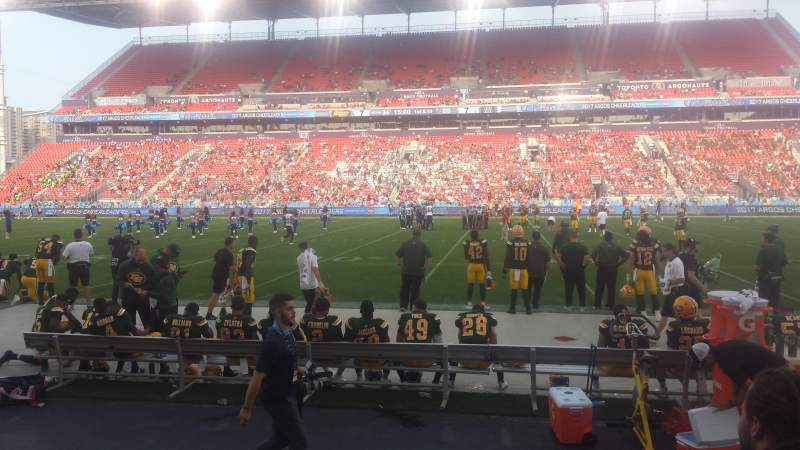 BMO Field, section: 122, row: 3, seat: 24
