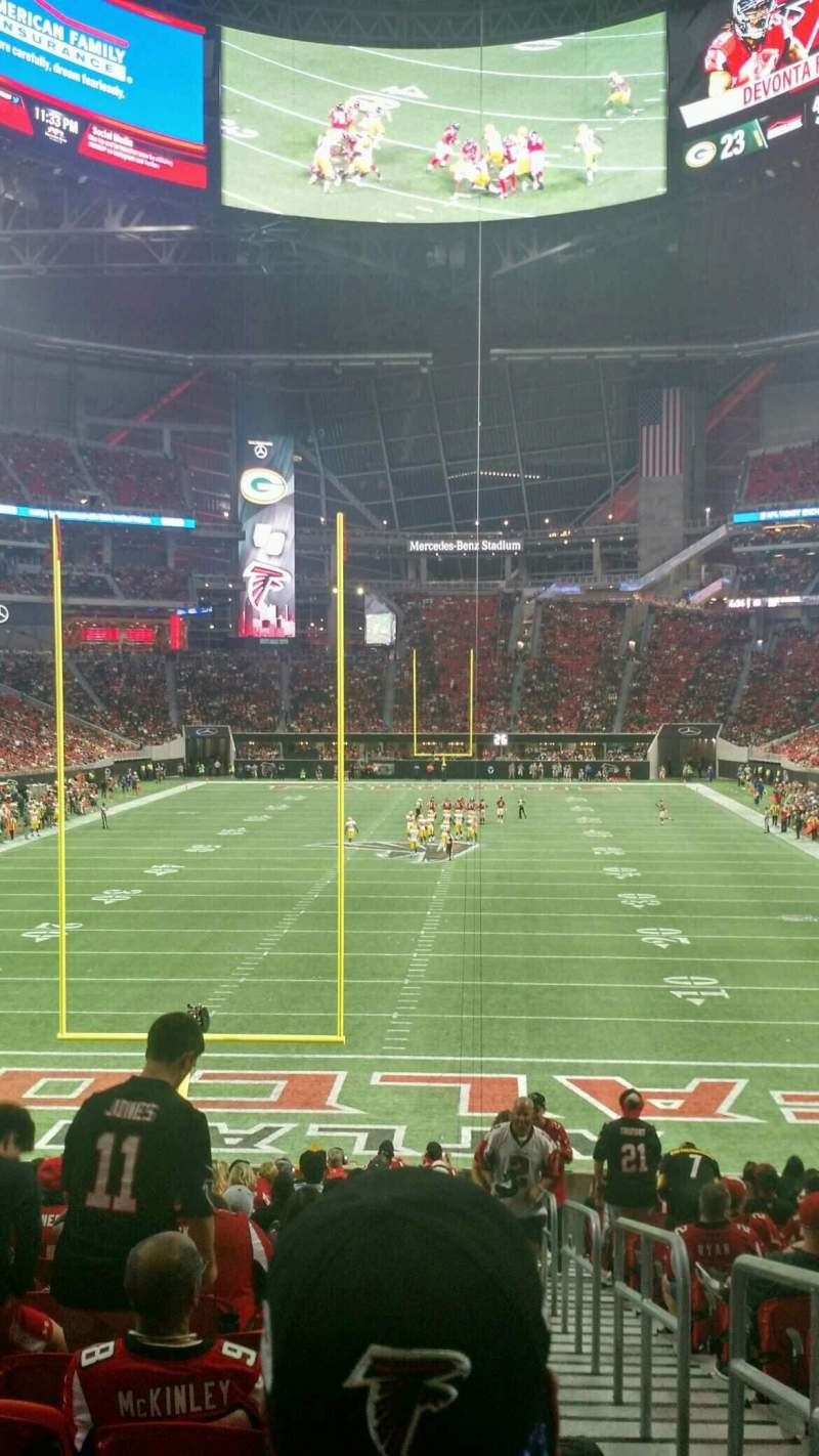 Seating view for Mercedes-Benz Stadium Section 119 Row 27 Seat 1