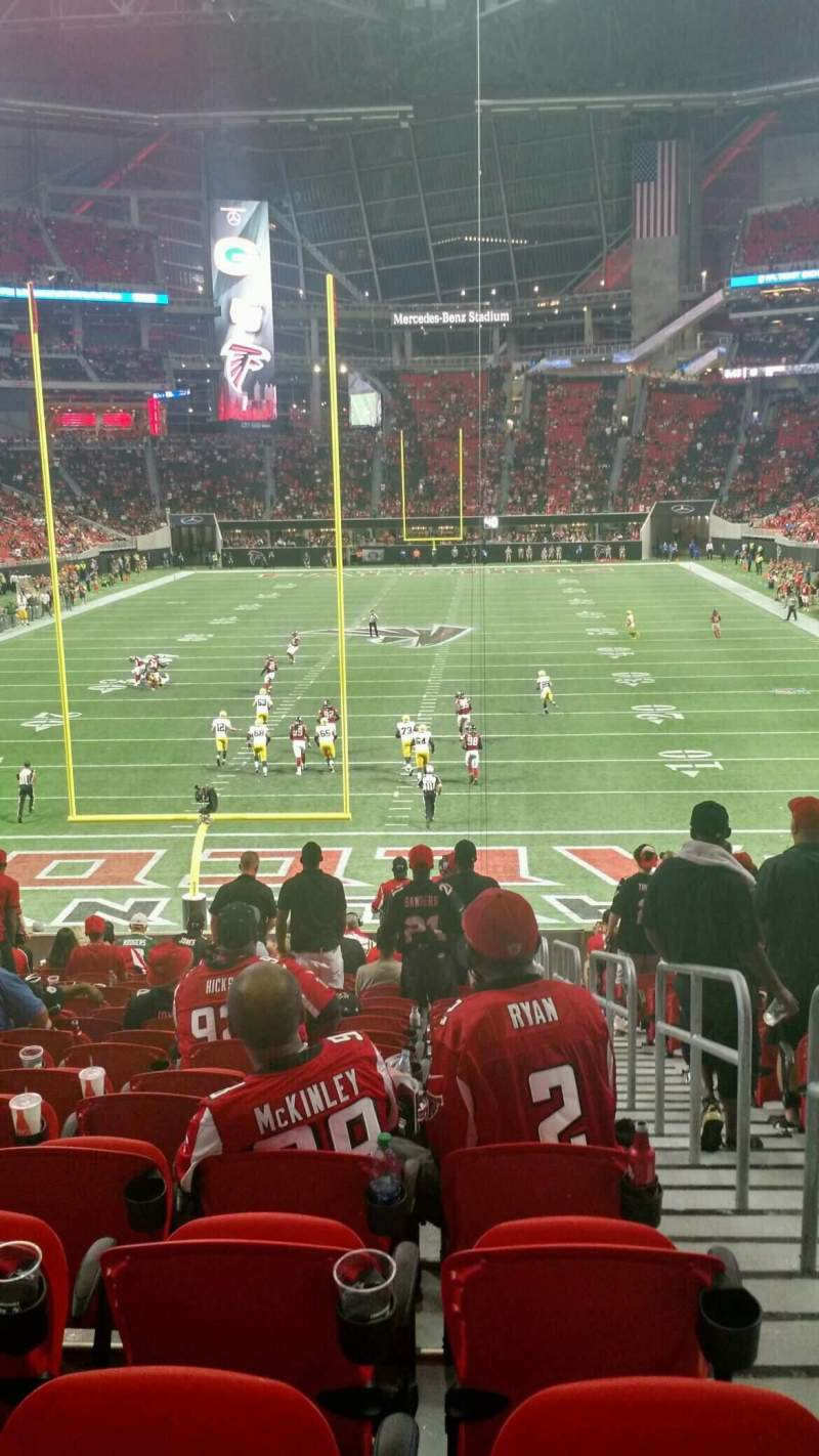 Seating view for Mercedes-Benz Stadium Section 119 Row 27 Seat 2
