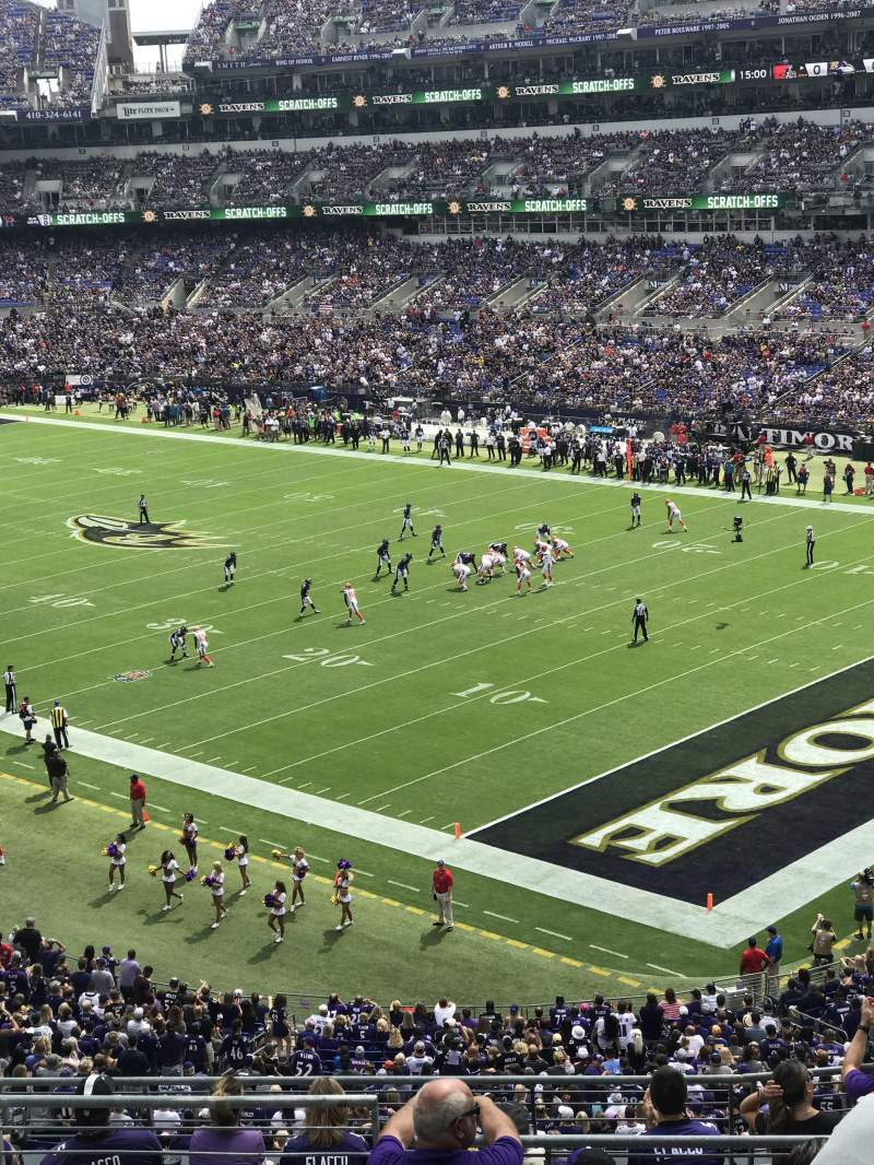 Seating view for M&T Bank Stadium Section 246 Row 11 Seat 16