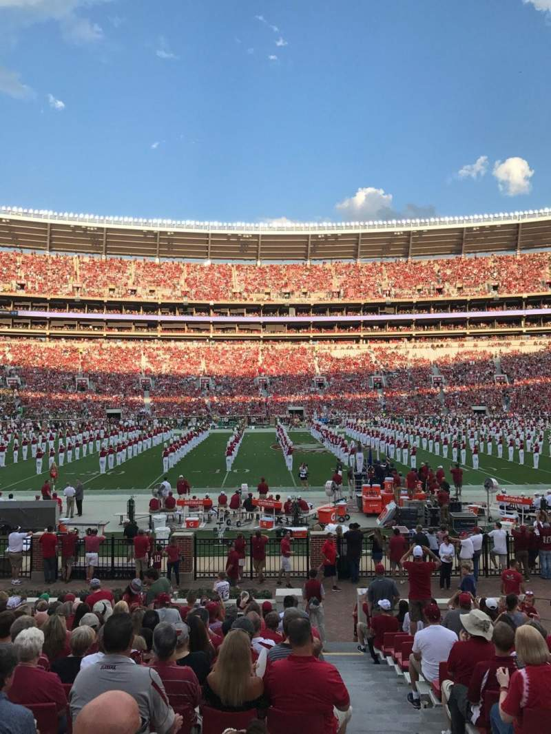 Bryant-Denny Stadium, section: H, row: 19, seat: 1