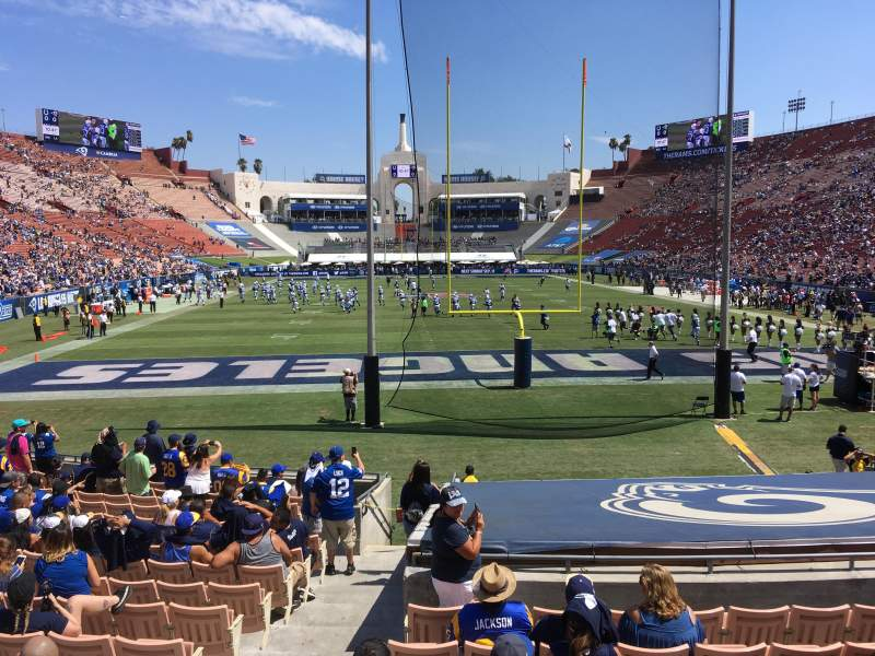 Seating view for Los Angeles Memorial Coliseum Section 114 Row 18 Seat 26