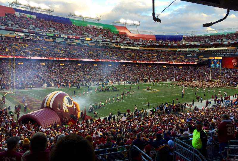 Seating view for FedEx Field Section 206 Row 7 Seat 5