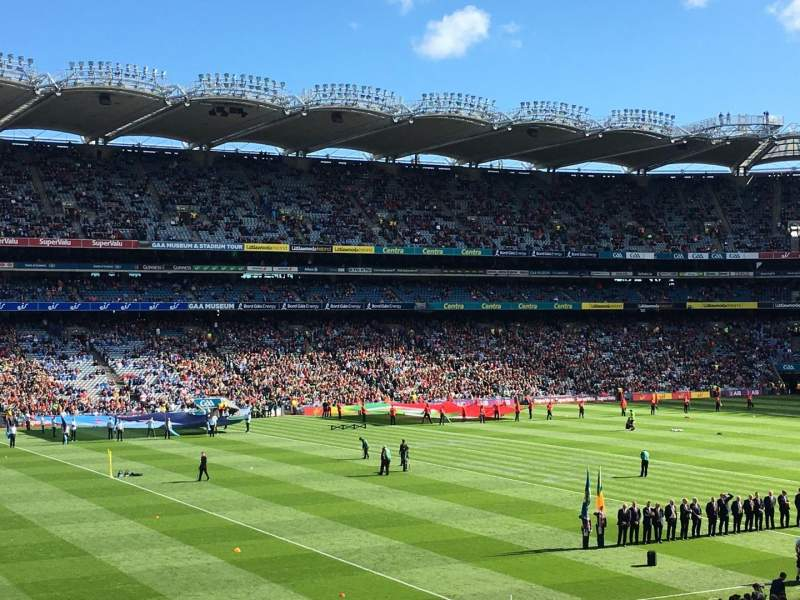 Seating view for Croke Park Section 335 Row RR Seat 20