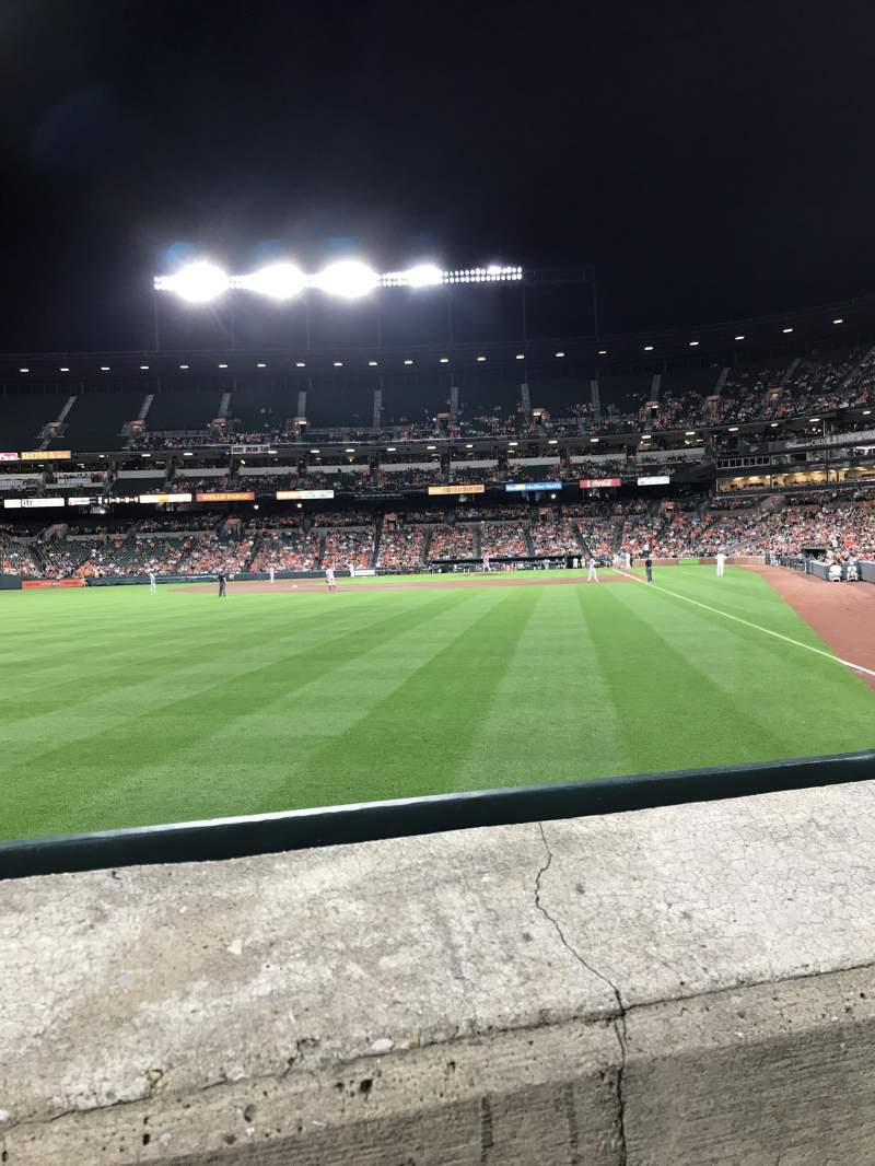 Seating view for Oriole Park at Camden Yards Section 74 Row 1 Seat 11