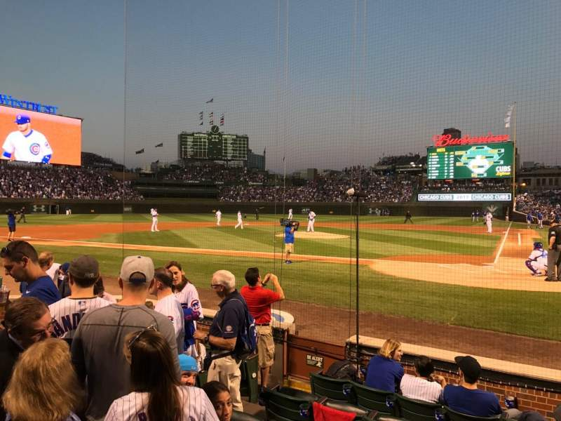 Seating view for Wrigley Field Section AA15 Row 7 Seat 6