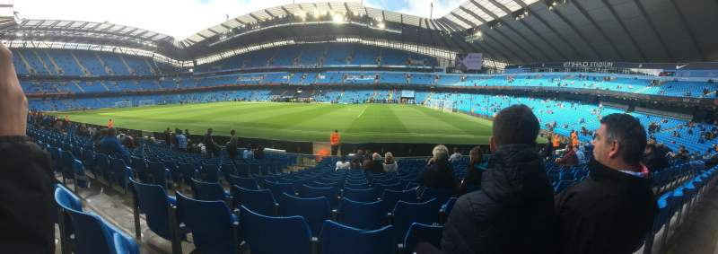 Seating view for Etihad Stadium (Manchester) Section 101 Row N Seat 25