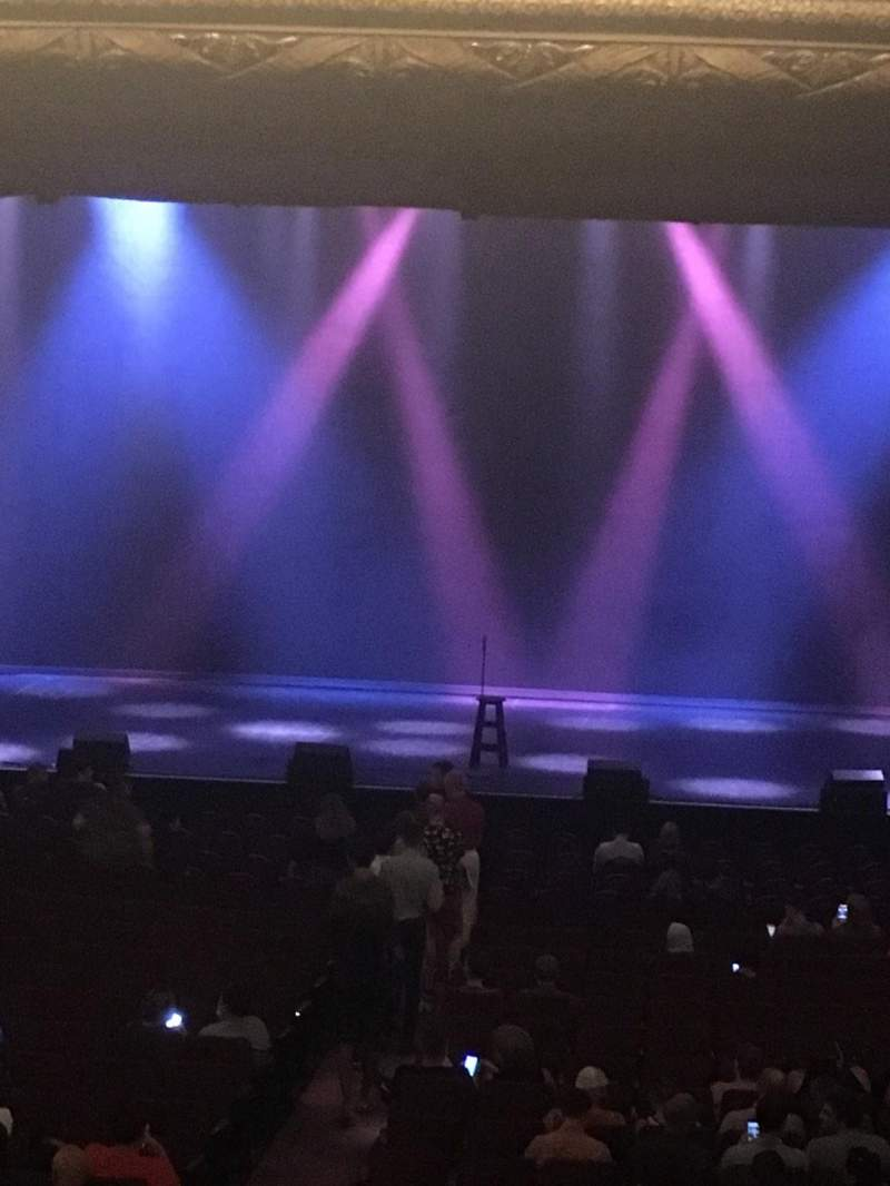 Seating view for Chicago Theatre Section Mezzanine Box M Seat 3