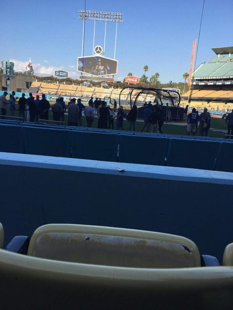 Dodger Stadium, section: 7FD, row: B, seat: 4