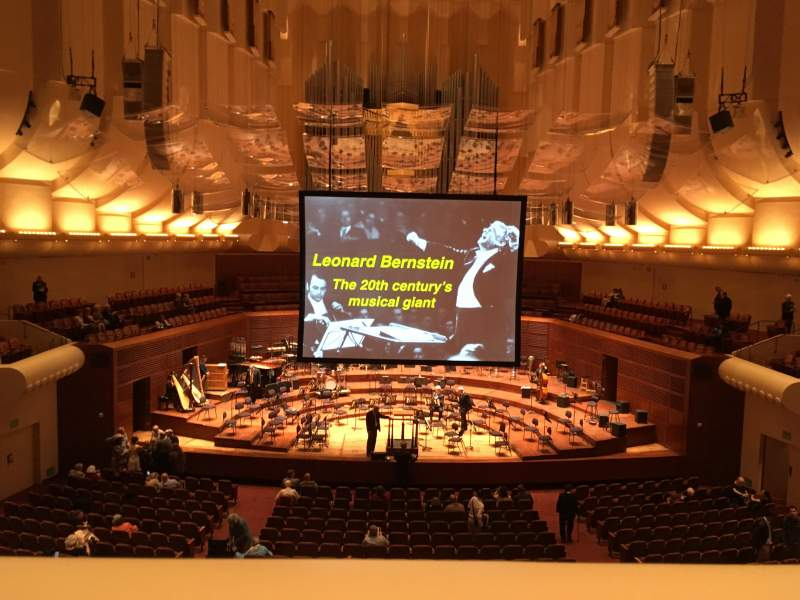 Seating view for Davies Symphony Hall Section Loge Row A Seat 3
