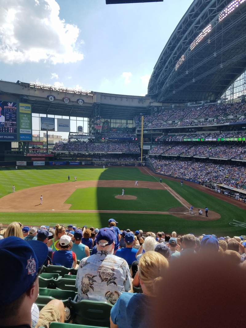 Seating view for Miller Park Section 223 Row 16 Seat 10