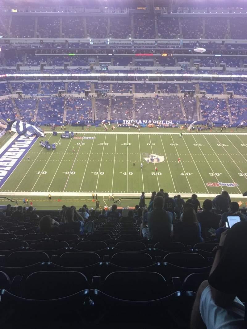 Lucas Oil Stadium, section: 514, row: 19, seat: 5