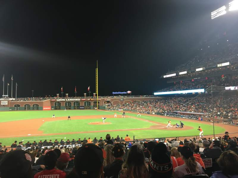 Seating view for Oracle Park Section 123 Row 28 Seat 5
