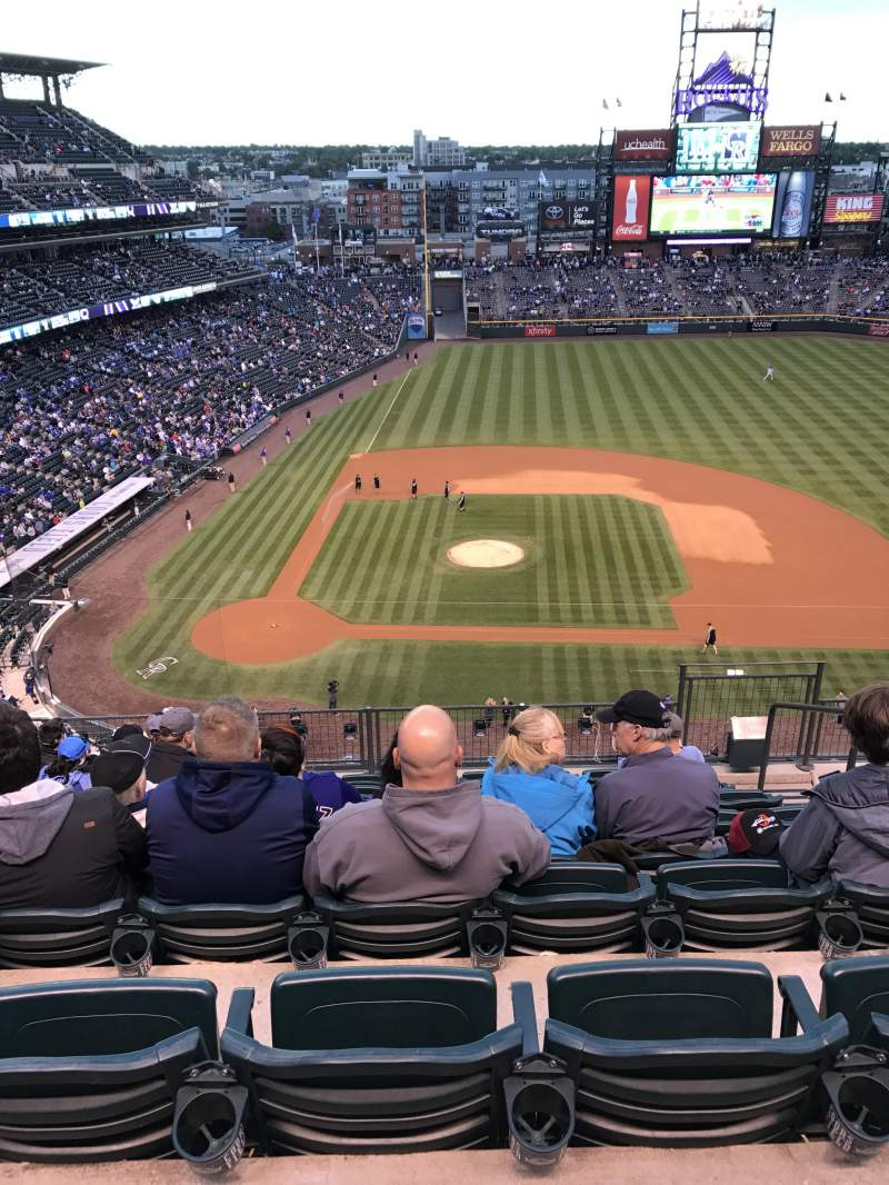 Seating view for Coors Field Section L325 Row 9 Seat 5